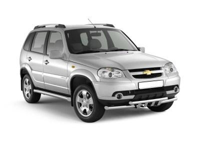 Защита порогов вогнутая 76 мм (НПС) Chevrolet NIVA с 2009г