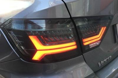 Тюнинг светодиодные LED фонари (серые) для Лада Веста