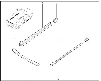 Обтекатель порога Lada Granta Drive Active