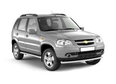 Защита порогов вогнутая 63мм (НПС) Chevrolet NIVA с 2009г