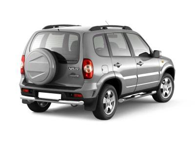Защита заднего бампера с накладкой 63 мм (НПС) Chevrolet NIVA