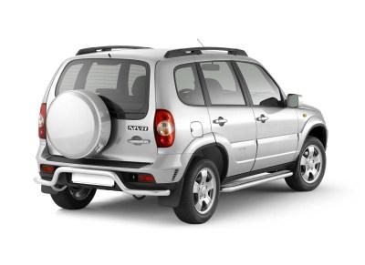 Защита порогов с алюминиевой площадкой 51 мм (НПС) Chevrolet NIVA