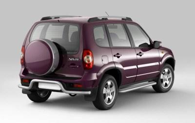 Защита порогов с алюминиевой площадкой 51 мм (ППК) Chevrolet NIVA