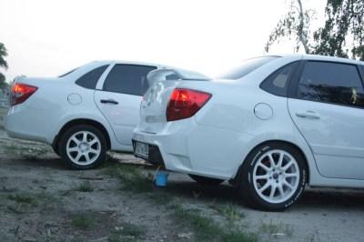 Задний бампер GTS тюнинг на ЛАДА ГРАНТА 2190 седан