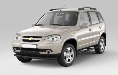 Защита порогов с накладками 63 мм (ППК) Chevrolet NIVA