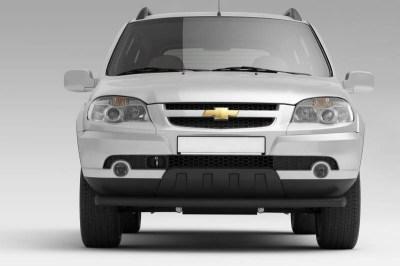 Защита переднего бампера одинарная 63 мм (ППК) Chevrolet NIVA
