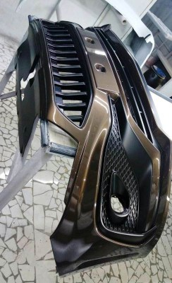 Передний бампер тюнинг QUASAR для LADA VESTA CROSS седан, SW CROSS