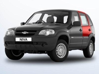 Дверь задняя левая с петлями нов.образца на Chevrolet Niva ВАЗ 2123