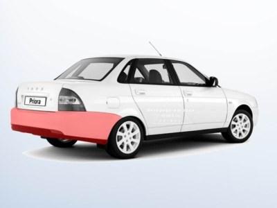 Бампер задний на ЛАДА ПРИОРА ВАЗ-2170 седан, оригинал в цвет