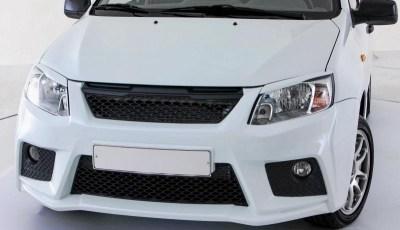 Бампер передний GTS тюнинг на ЛАДА ГРАНТА ВАЗ 2190 седан